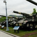 Tanks on display (weapons, planes, jets and other military equipment on display)