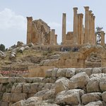 The Zeus temple above the Hippodrome.