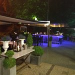 View of the outside terrace and the bar outside