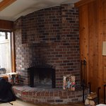 Fireplace in cabin 26