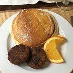 Pancakes with a delicious sweet orange glaze