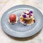 White Chocolate, berry and rose bombe