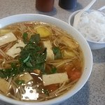 Vegetarian sweet and sour soup