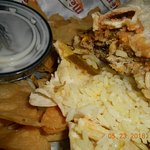 bad burrito, dry rice, dry pork, hardly cheese waterycheese sauce