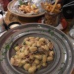Pasta and calamari