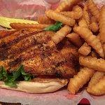 Blackened grouper sandwich soggy bun needed more seasoning