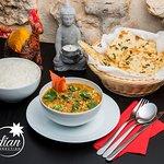 Butter chicken, Naan