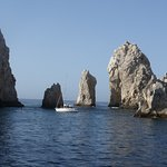 While on the boat the view we saw of El Arco