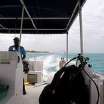 Oasis Divers, Grand Turk...roomy covered boat