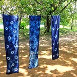 our indigo scarves