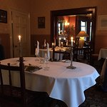 Candles in the dining room
