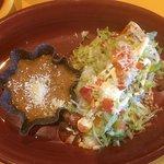 Mini-burrito with beans