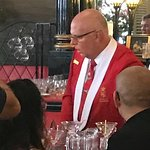 Our Red Coated Bartender-Muy Elegante!