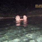 a noite nas piscinas