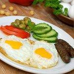 Breakfast - Eggs, Sausage, Vegetables