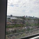 Vista desde el hotel a los canales
