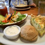 Lunch option of quiche and sides
