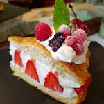 Our dessert--strawberry shortcake. Now I have new ideas for making this dessert special!