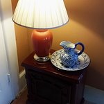 Antique Lamp, Furniture, and Basin