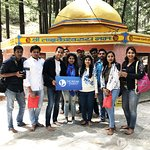 The Indian Tourist Group at Tarkeswar Temple, Garhwal