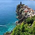 View from the restaurant of Vernazza