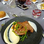 Escalope de foie de veau grillé aux aillets