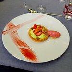Tartelette Fraise-Pistache et sorbet fraise maison