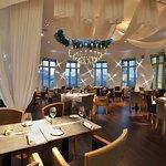 evening interior Ginger&Fred restaurant