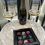 Welcome chocolates and champagne