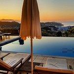 Sunrise on pool area
