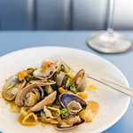 Orecchiette, clams, urchin butter