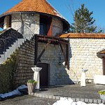 This tower holds the wine cellar and a room for weddings