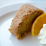 Torta de Laranja. Orange and almond roll.