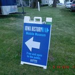 SIGN FOR MOBILE MUSEUM ON DISPLAY ON THIS DATE HERE