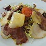 Салат из телятины с грушей