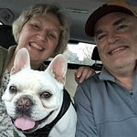Your hosts, Tami and Doug, plus Louie the French Bulldog