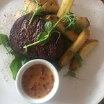 Fillet Steak, Pink Peppercorn Sauce, Mini Wellington