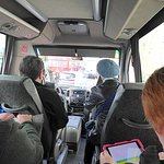 On the tour van