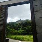 Looking out through the gate in Jurassic World