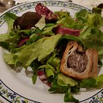 Salad with pate roll