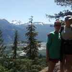 Lookout above the waterfall section on the way to Echo Lake, great views of Squamish and the Chi