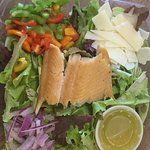 Our delicious smoked trout salad!