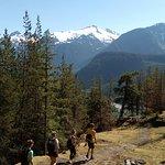 Hiking above High Falls Creek