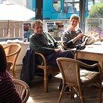 Internal view of the Shoreline Cafe, Craster