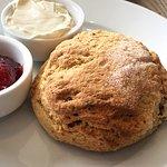 A scone at the Shoreline Cafe, Craster