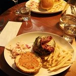 Chicken burger and Bacon Cheese Burger