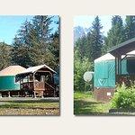 (2) 24 Ft. Yurt's/Sleeps (6) w/ private bath /kitchenette