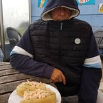 Even when it's freezing the wind-breaker and the prawn baguette do the job!