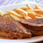 Grilled Reuben + Fries.