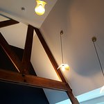 High ceiling with rafters